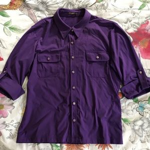 J. MCLAUGHLIN Catalina cloth top. Purple